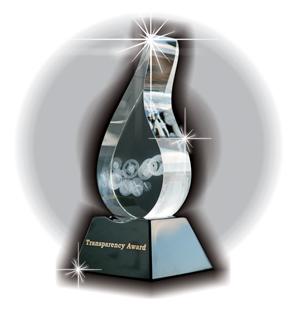 компания «Тайбала» стала победителем международного конкурса «ЗА ПРОЗРАЧНОСТЬ – Transparency Award» и получила почетную международную премию «Хрустальная капля - Transparency Award»