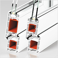 Подробнее обоконном ПВХпрофиле PROPLEX-Optima, дверная система